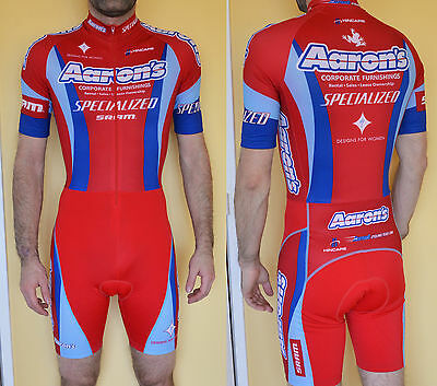 Combinaison cycliste cycle tight suit speed skinsuit Aaron's trial Small