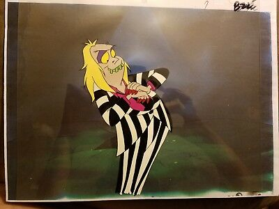 Original BEETLEJUICE The Animated Series Production Animation Cel w/ Copy Bkgd
