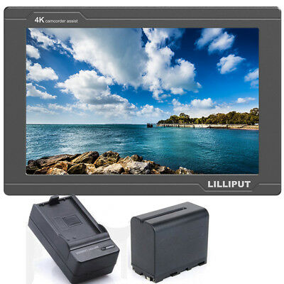Lilliput FS7 7inch IPS 4K FHD HDMI 3G-SDI Monitor + Battery For Camera Camcorder