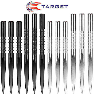 Target   Fire Edge Dart Points   Black   Silver   32mm   36mm   Free Postage