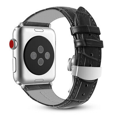 For iWatch Apple Watch Series 4 44mm 2018 Genuine Leather Replacement Strap Band