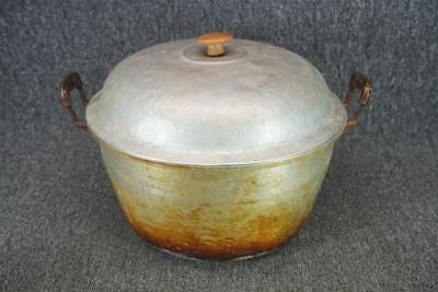 """12.75"""" Wide Cooking Pot With Lid & Handles Vintage"""