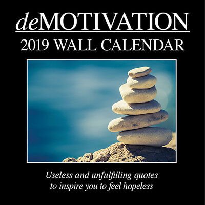 Demotivation 2019 Wall Calendar (Gifted Stationery) Free Postage
