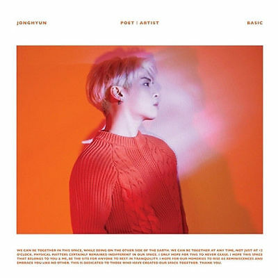 SHINEE JONGHYUN [POET l ARTIST] Album CD+POSTER+86p Photo Book K-POP SEALED