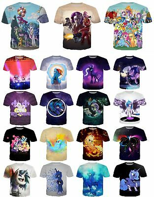 Cartoon My Little Pony 3D Print Women/men Casual T-Shirt Short Sleeve Tops S-5XL