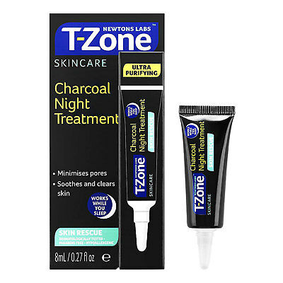 Newtons Labs T-Zone Skincare Charcoal Night Treatment 8ml Skin Rescue