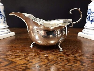 George II? Solid Silver Antique Gravy Sauce Boat Hallmarked Chester