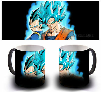 Taza Magica Sensitiva Al Calor - Goku Vegeta Blue