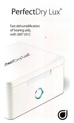 PERFECTDRY Perfect Dry Lux UV-C Hearing Aid FAST DEHUMIDIFICATION  System