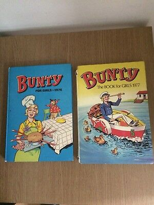2 BUNTY ANNUALS 1976 and 1977