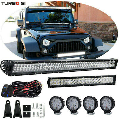 "52inch +22"" +4"" 18W LED Offroad Light Bar Combo Kit For Jeep Wrangler JK Rubicon"