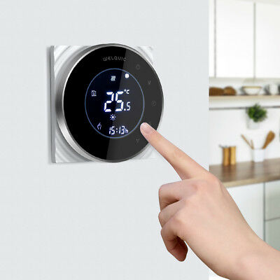 Touch Electric Thermostat Room Temperature Heating Controller 16A Floor Sensor