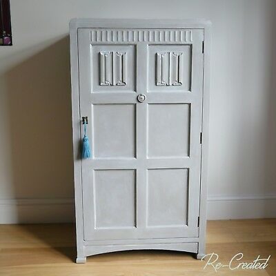 Art Deco Style Linen Cupboard   Hand Painted   French Linen & Florence