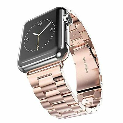 Stainless Steel Strap Watch Band Clasp For Apple Watch Series 3 iWatch 42mm