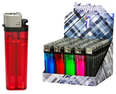 Ignitus Classis - 40 Lighters - Disposable Butane Adjustable Assorted Colors