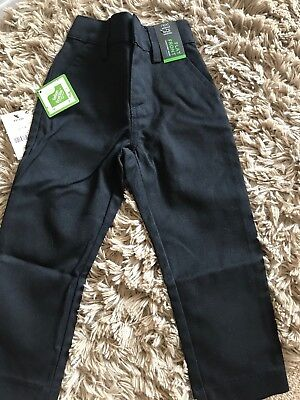 NEXT Boys Navy Flat Front Slim Fit Trousers New For School 3yrs