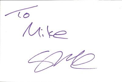 Stephen McCarthy Actor signed white card dedicated in person autograph Z2405