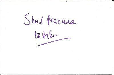 Stuart Maconie actor signed white card dedicated in person autograph Z2422
