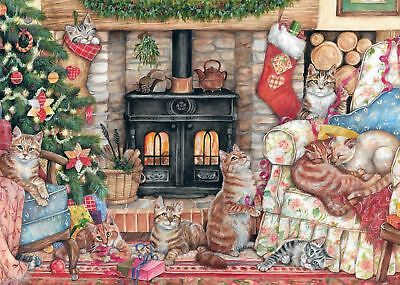 Falcon Deluxe Christmas Cats Jigsaw Puzzle (500 Pieces)