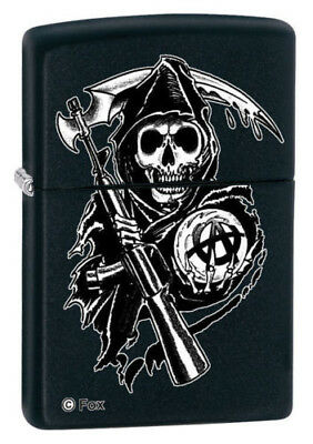 BRIQUET ZIPPO ESSENCE NEUF - SONS OF ANARCHY FAUCHEUSE ( Série TV , Tempete )