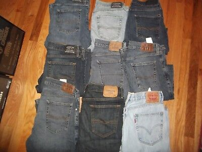 LOT of  Mens  Designer Blue Jeans Levis 34x34 Nike Tennis Shoes Doc Martens 11