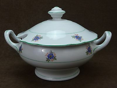 Antique Moschendorf BAVARIA Soup Tureen / Covered Pedestal Floral / Germany