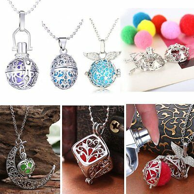 2019 Hot Locket Perfume Aromatherapy Oil Diffuser Pendant Necklace +6PCS Cottons