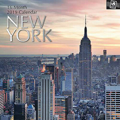 New York 2019 Wall Calendar (Gifted Stationery) Free Postage