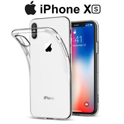 Funda Carcasa Gel Silicona Transparente para iPhone XS