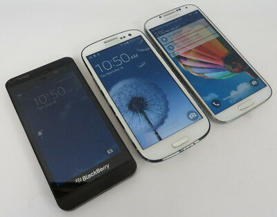 Dealer Lot 3 Smartphones Blackberry Z10 / Samsung Galaxy S3 & S4 - Verizon