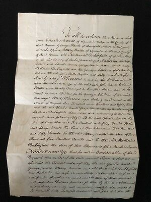 George III Two Page Will Dated 1785 Complete With 5 Impressed Seals (2)