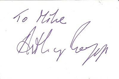 Anthony Biggs actor signed white card dedicated in person autograph Z2492