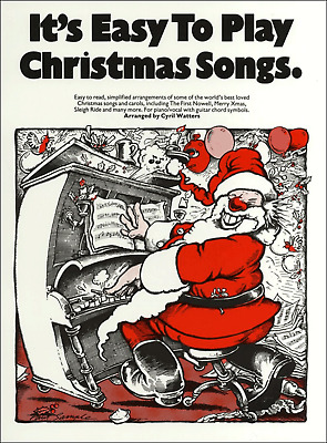 EASY CHRISTMAS SONGS & CAROLS For Piano Sheet Music Book Songbook Album Tunes