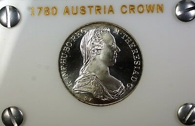 1780 Austria Maria Theresa Thaler Silver Proof Crown Re-Strike Coin in Case
