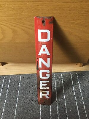 Old / vintage enamel Danger sign