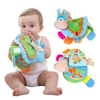 Donkey Soft Cloth Book Baby Toys Animal Hanging Ring Newborn Early Y