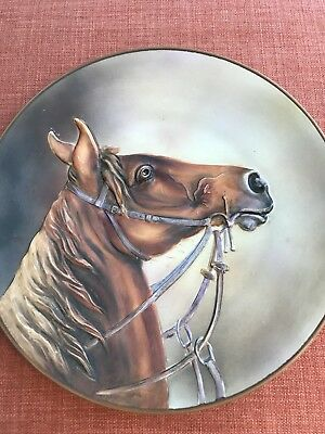 Nippon Blown Out Horse Head Plaque