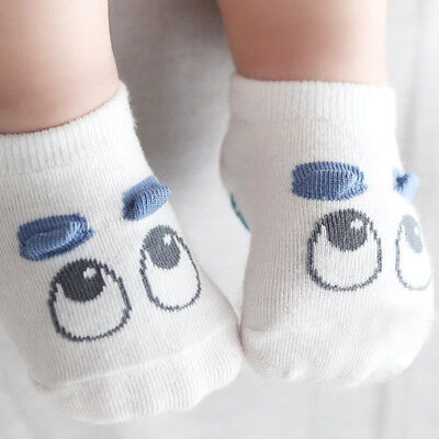 Unisex Newborn Cotton Boys Girls Eyes Cartoon Seasons Anti-slip Socks S Size YT8