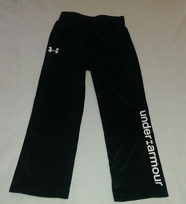Boys Youth Under Armour UA Size 5 Sweat Pants Black