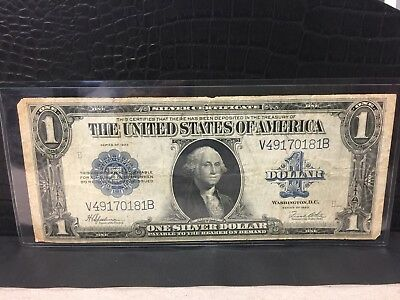 ~* 1923 $1 One Dollar Silver Certificate Large Note (V49170181B) ~*