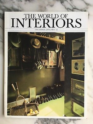 """(RARE) - first edition as """"The World of Interiors""""- December 1982 & January 1983"""
