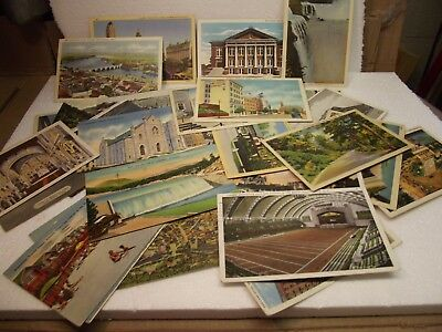 Lot of 45 Antique Vintage Postcards Early 1930's - 1940's Used with Stamps