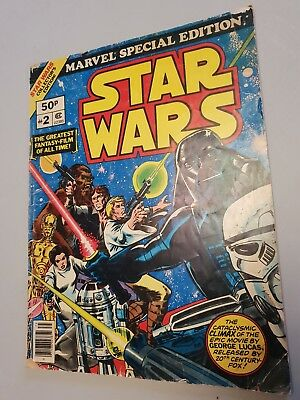 RARE Marvel special edition Star Wars #2 large comic from 1977 Stan Lee