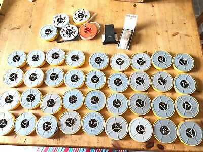 40 Vintage 60s /70 s Cine Film Reels Movies,Holidays,Wedding, Football, Fishing