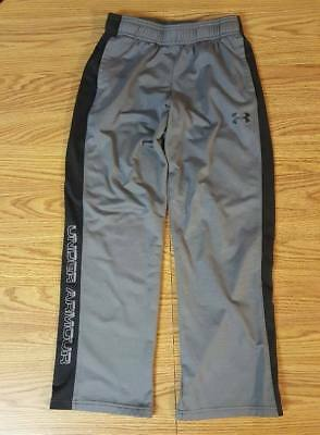 Boys YMD 10/12 Under Armour Gray & Black Graphic Storm Sweatpants M