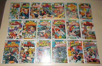 Ms. Marvel (Captain) Lot 2 3 4++ 16 17 Bronze Age 1st Mystique Key (No 1) Nice