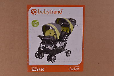 NEW - Baby Trend Sit N Stand Double Stroller, Carbon, SS76710