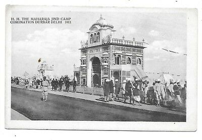 MAHARAJA JIND Camp Coronation Durbar Delhi 1911 India Postcard