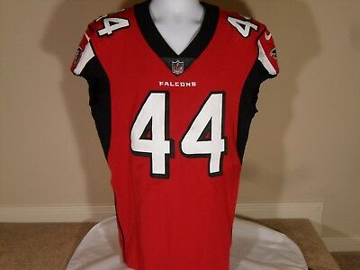 Nike Game Used Vic Beasley JR Atlanta Falcons 2017 Home Red Football Jersey  44 8dfc6a959