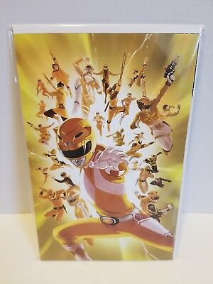 Mighty Morphin Power Rangers #28 1:25 Villa Virgin Art Variant Shattered Grid